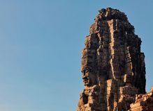 Faces of ancient Bayon Temple At Angkor Wat. Siem Reap, Cambodia Stock Image
