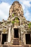 Faces of ancient Bayon Temple At Angkor Wat, Siem Reap, Cambodia.  Royalty Free Stock Images