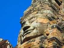 Faces. Ancient ruins of the Angkor Wat temples in Cambodia Royalty Free Stock Image