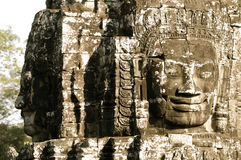 Faces of Angkor Royalty Free Stock Photo