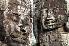 Faces at Angkor Vat, Cambodia Stock Photo