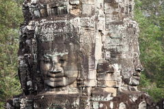Faces at Angkor Vat, Cambodia Stock Images
