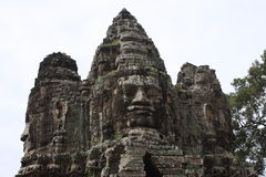 Faces of Angkor Wat Stock Images