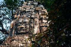 Faces of Angkor Wat in Bayon Temple Stock Photography