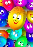 Faces, Ballons, Balloons, Smilie Stock Images
