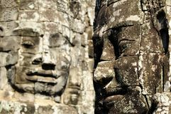 Faces of the bayon Royalty Free Stock Image