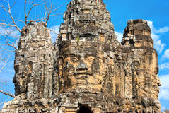 Faces of Bayon Stock Images
