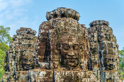 Faces of Bayon tample royalty free stock photo