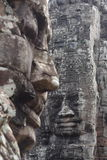 Faces of Bayon Temple Royalty Free Stock Photography