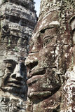 Faces of Bayon Temple Stock Photography