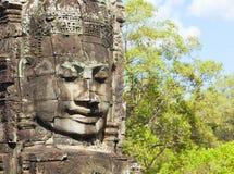 Faces of Bayon temple Royalty Free Stock Photos