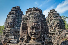 Faces of Bayon temple, Angkor, Cambodia Stock Photos