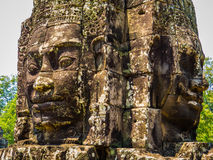 Faces in Bayon Temple, Angkor Thom Stock Photo