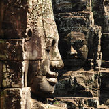 Faces of Bayon temple Royalty Free Stock Photo