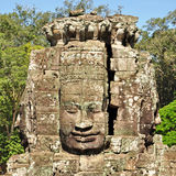 Faces of Bayon temple Royalty Free Stock Images