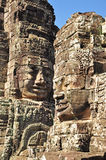 Faces of Bayon temple Stock Image