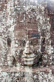 Faces of Bayon temple in Angkor Thom Royalty Free Stock Images