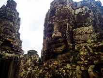 Faces of Bayon temple in Angkor Thom, Siemreap, Cambodia.  royalty free stock photo