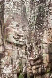 Faces of Bayon temple in Angkor Thom, Siemreap, Cambodia. Asia royalty free stock photo