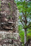 Faces of Bayon temple in Angkor Thom, Siemreap, Cambodia. Asia stock image