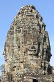 Faces of Bayon temple in Angkor Thom at Siemreap, Cambodia. Faces of Bayon temple in Angkor Thom at Siemreap on Cambodia Stock Photos