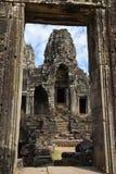 Faces of Bayon temple in Angkor Thom at Siemreap, Cambodia. Faces of Bayon temple in Angkor Thom at Siemreap on Cambodia Stock Photo