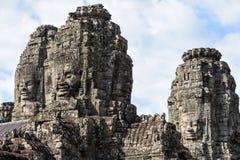 Faces of Bayon temple in Angkor Thom at Siemreap, Cambodia. Faces of Bayon temple in Angkor Thom at Siemreap on Cambodia Royalty Free Stock Photo