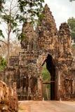 Faces in Bayon Temple, Angkor Wat, Cambodia. Entrance of Bayon Temple at daylight, Angkor Wat, Cambodia Stock Photos