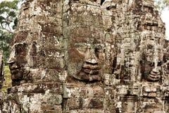 Faces in Bayon Temple, Angkor Wat, Cambodia Stock Photography