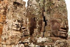 Faces in Bayon Temple, Angkor Wat, Cambodia Royalty Free Stock Photography