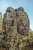 Faces in Bayon temple Royalty Free Stock Images