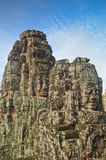 Faces in Bayon temple Royalty Free Stock Photo