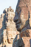Faces of the Bayon Temple Royalty Free Stock Photos