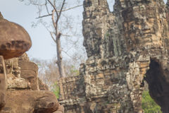 The faces at the Bayon Temple, Siem Riep, Cambodia. Face. The amazing faces at the Bayon Temple, Siem Riep, Cambodia. Faces at Bayon Stock Photo