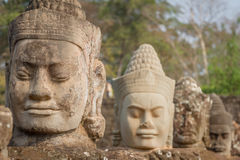 The faces at the Bayon Temple, Siem Riep, Cambodia. Face. The amazing faces at the Bayon Temple, Siem Riep, Cambodia. Faces at Bayon Stock Photos