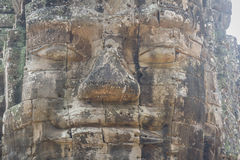 The faces at the Bayon Temple, Siem Riep, Cambodia. Face Stock Images