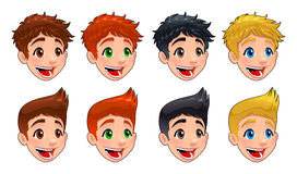 Faces of boys. Royalty Free Stock Photos