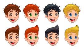 Faces of boys. Royalty Free Stock Photos