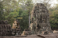 1000 Faces of Buddha temple in Bayon Stock Images
