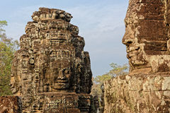 1000 Faces of Buddha temple. In the Bayon temple complex at Angkor in Cambodia Stock Images