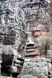 Faces of the Cambodian King. At Bayon Temple in Siem Reap Royalty Free Stock Image