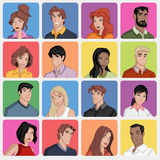 Faces of cartoon people