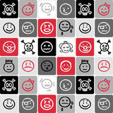 Faces checked pattern Royalty Free Stock Photography
