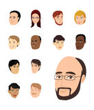 Faces collection Stock Photography