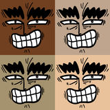 Faces color Stock Images