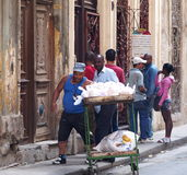 Faces Of Cuba Bread Seller In Old Havana Royalty Free Stock Images