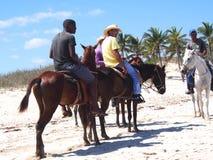 Faces Of Cuba  At Playa Del Este Stock Image