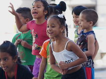 Faces Of Cuba School Children On Paseo Del Prado Royalty Free Stock Images