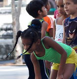 Faces Of Cuba School Children On Paseo Del Prado Stock Images