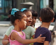 Faces Of Cuba School Children On Paseo Del Prado Stock Images